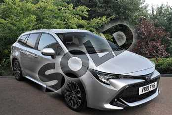 Toyota Corolla Touring Sport 2.0 VVT-i Hybrid Design 5dr CVT in Silver at Listers Toyota Stratford-upon-Avon