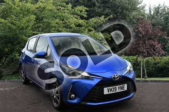 Toyota Yaris 1.5 VVT-i Icon Tech 5dr CVT in Blue at Listers Toyota Stratford-upon-Avon