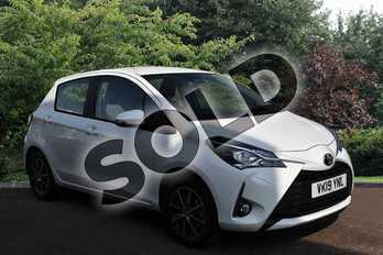Toyota Yaris 1.5 VVT-i Icon Tech 5dr in White at Listers Toyota Stratford-upon-Avon