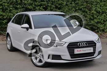 Audi A3 35 TFSI Sport 5dr in Glacier White Metallic at Worcester Audi