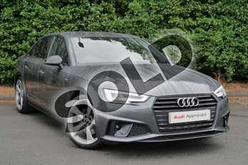 Audi A4 35 TFSI Black Edition 4dr in Daytona Grey Pearlescent at Worcester Audi