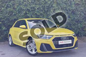 Audi A1 30 TFSI S Line 5dr in Python Yellow Metallic at Worcester Audi