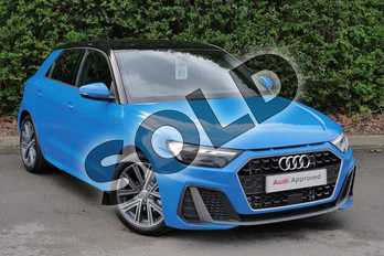 Audi A1 35 TFSI S Line 5dr in Turbo Blue at Worcester Audi