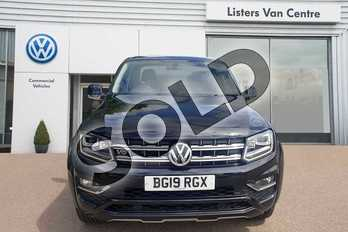 Volkswagen Amarok D/Cab Pick Up Highline 3.0 V6 TDI 258 BMT 4M Auto in Deep Black Metallic at Listers Volkswagen Van Centre Coventry