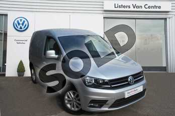 Volkswagen Caddy C20 Diesel 2.0 TDI BlueMotion Tech 102PS Highline Nav Van in Reflex Silver Metallic at Listers Volkswagen Van Centre Coventry
