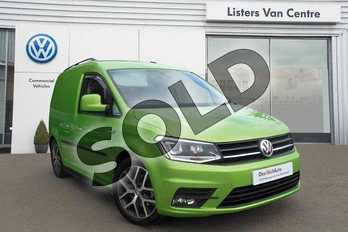 Volkswagen Caddy C20 Diesel 2.0 TDI BlueMotion Tech 150PS Highline Van DSG in Viper Green Metallic at Listers Volkswagen Van Centre Coventry
