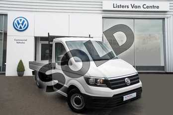 Volkswagen Crafter CR35 MWB Diesel 2.0 TDI 140PS Startline ETG Dropside in White  at Listers Volkswagen Van Centre Coventry