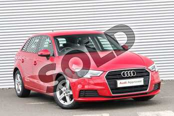 Audi A3 Diesel 30 TDI 116 SE Technik 5dr in Tango Red Metallic at Birmingham Audi