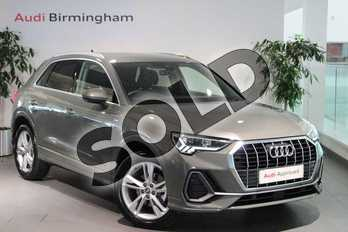 Audi Q3 Diesel 35 TDI S Line 5dr S Tronic in Chronos Grey Metallic at Birmingham Audi