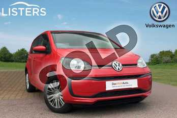 Volkswagen Up 1.0 Move Up 5dr (Start Stop) in TORNADO RED at Listers Volkswagen Loughborough