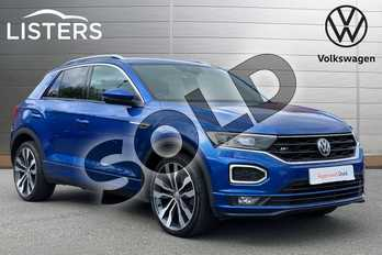 Volkswagen T-Roc Diesel 1.6 TDI R Line 5dr in RAVENNA BLUE at Listers Volkswagen Loughborough