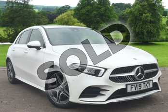 Mercedes-Benz A Class Diesel A200d AMG Line Executive 5dr Auto in Polar White at Mercedes-Benz of Grimsby