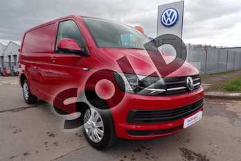 Volkswagen Transporter T28 SWB Diesel 2.0 TDI 102PS Trendline Van in Cherry Red  at Listers Volkswagen Van Centre Worcestershire