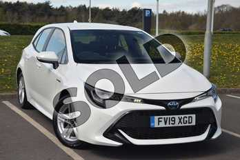 Toyota Corolla 1.8 VVT-i Hybrid Icon Tech 5dr CVT in White at Listers Toyota Lincoln
