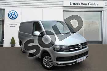 Volkswagen Transporter T28 SWB Diesel 2.0 TDI BMT 102 Highline Van Euro 6 in Silver Metallic at Listers Volkswagen Van Centre Coventry