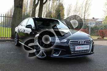 Audi A4 Diesel 40 TDI S Line 4dr S Tronic in Myth Black Metallic at Coventry Audi