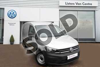 Volkswagen Caddy C20 Diesel 2.0 TDI BlueMotion Tech 102PS Startline Van in Silver Metallic at Listers Volkswagen Van Centre Coventry
