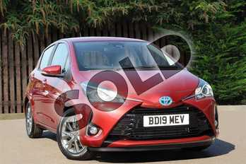 Toyota Yaris 1.5 Hybrid Icon 5dr CVT in Tokyo Red at Listers Toyota Coventry