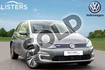 Volkswagen Golf 99kW e-Golf 35kWh 5dr Auto in Indium Grey at Listers Volkswagen Leamington Spa