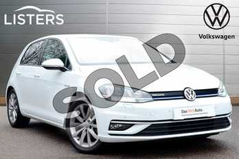 Volkswagen Golf 1.5 TSI EVO GT 5dr DSG in Pure white at Listers Volkswagen Worcester