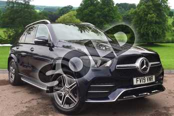 Mercedes-Benz GLE GLE 450 4Matic AMG Line Prem + 5dr 9G-Tron (7 St) in cavansite blue at Mercedes-Benz of Grimsby