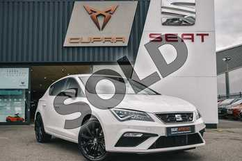 SEAT Leon 2.0 TSI 190 FR (EZ) 5dr DSG in White at Listers SEAT Coventry