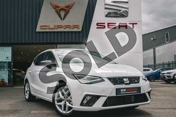 SEAT Ibiza 1.0 TSI 95 FR (EZ) 5dr in White at Listers SEAT Coventry
