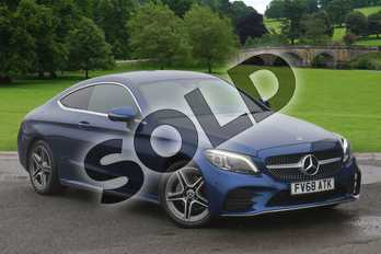 Mercedes-Benz C Class C200 AMG Line Premium 2dr 9G-Tronic in brilliant blue metallic at Mercedes-Benz of Boston