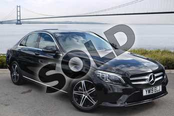 Mercedes-Benz C Class C200 Sport Premium 4dr 9G-Tronic in obsidian black metallic at Mercedes-Benz of Hull