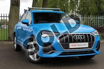 Audi Q3 Diesel 35 TDI S Line 5dr S Tronic in Turbo Blue at Coventry Audi