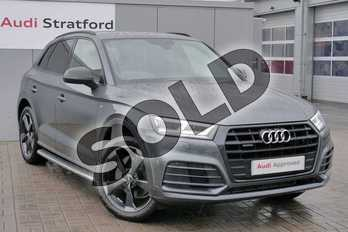 Audi Q5 Diesel 40 TDI Quattro Black Edition 5dr S Tronic in Daytona Grey Pearlescent at Stratford Audi