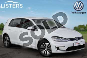 Volkswagen Golf 99kW e-Golf 35kWh 5dr Auto in Pure white at Listers Volkswagen Nuneaton