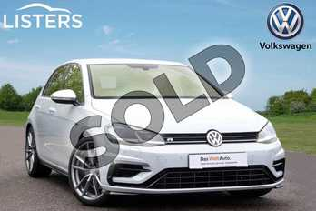 Volkswagen Golf 2.0 TSI 300 R 5dr 4MOTION DSG in White Silver at Listers Volkswagen Leamington Spa