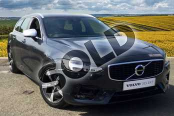 Volvo V90 Diesel 2.0 D4 R DESIGN 5dr Geartronic in 492 Savile Grey at Listers Volvo Worcester