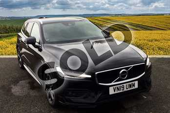 Volvo V60 Diesel Sportswagon 2.0 D3 Momentum Pro 5dr Auto in 717 Onyx Black at Listers Volvo Worcester