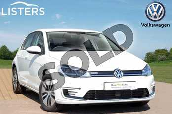Volkswagen Golf 99kW e-Golf 35kWh 5dr Auto in Pure White at Listers Volkswagen Loughborough