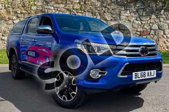 Toyota Hilux Diesel Invincible X D/Cab Pick Up 2.4 D-4D Auto in Nebula Blue at Listers Toyota Coventry