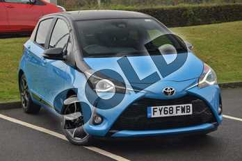 Toyota Yaris 1.5 VVT-i Design 5dr in Blue at Listers Toyota Cheltenham