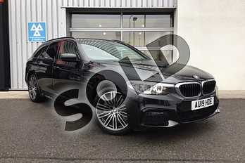 BMW 5 Series Touring 520i M Sport 5dr Auto in Black Sapphire metallic paint at Listers King's Lynn (BMW)