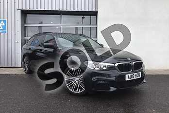 BMW 5 Series Diesel Touring 530d M Sport 5dr Auto in Black Sapphire metallic paint at Listers King's Lynn (BMW)