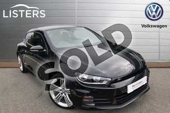 Volkswagen Scirocco Diesel 2.0 TDI BlueMotion Tech R Line 3dr in Deep black at Listers Volkswagen Coventry