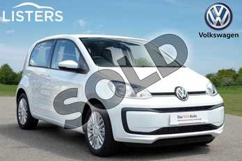 Volkswagen Up 1.0 Move Up 5dr in Pure white at Listers Volkswagen Coventry