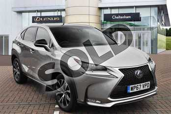 Lexus NX 300h 2.5 F-Sport 5dr CVT (Premium Pack/leather) in Sonic Titanium at Lexus Lincoln