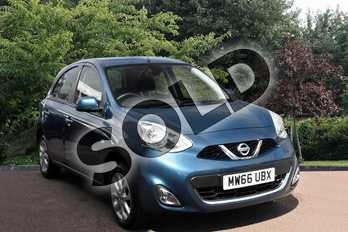 Nissan Micra 1.2 Acenta 5dr in Blue at Listers Toyota Stratford-upon-Avon