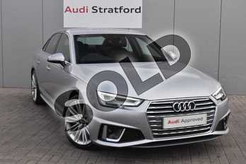 Audi A4 40 TFSI S Line 4dr S Tronic in Floret Silver Metallic at Stratford Audi