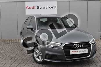 Audi A3 Diesel 30 TDI 116 SE Technik 5dr S Tronic in Monsoon Grey Metallic at Stratford Audi