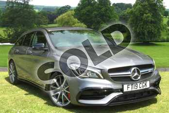 Mercedes-Benz CLA Class CLA 45 Night Edition 4Matic 5dr Tip Auto in mountain grey metallic at Mercedes-Benz of Grimsby