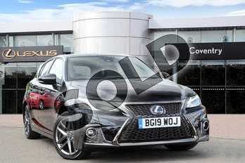 Lexus CT 200h 1.8 F-Sport 5dr CVT (Tech Pack) in Velvet Black at Lexus Coventry