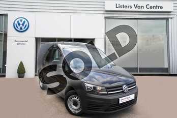 Volkswagen Caddy C20 Diesel 2.0 TDI BlueMotion Tech 102PS Startline Van in Deep Black at Listers Volkswagen Van Centre Coventry