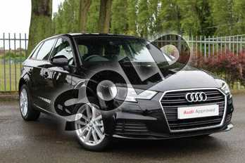 Audi A3 Diesel 30 TDI 116 SE Technik 5dr S Tronic in Myth Black Metallic at Coventry Audi
